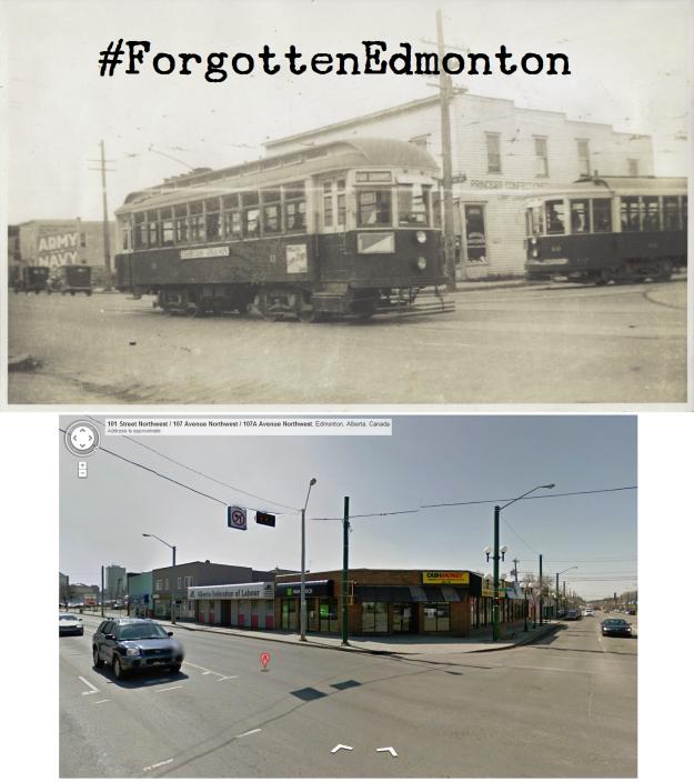 101 Street & 107 Avenue (~1950 & Now)
