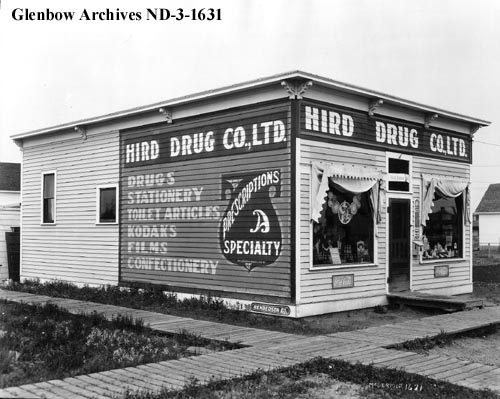 nd-3-1631 - Drugstore, Calder, Alberta. - 1922