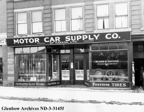 nd-3-3145f - Motor Car Supply Company of Canada Limited, exterior of shop, Edmonton, Alberta. - Wize Block - 1926