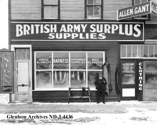 nd-3-4436 - Allan Gant's store front, Edmonton, Alberta. - 10264 101 Street - 1928