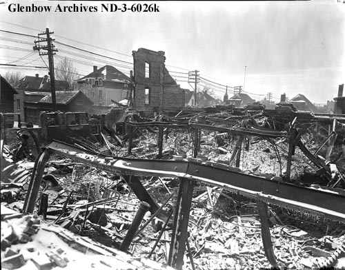 nd-3-6026k - Corona Hotel after fire, Edmonton, Alberta. - 1932