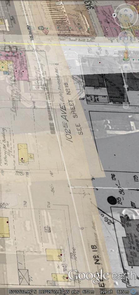 nc-6-4307 - Edmonton Journal bicycle race, Edmonton, Alberta. - Looking East on 102 Ave Towards 101 Street - Map