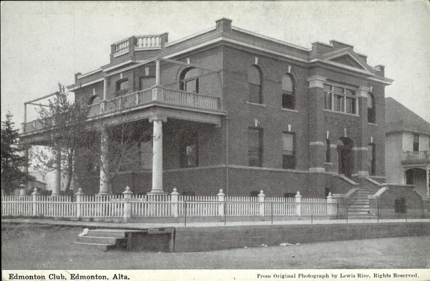 PC013611 - Exterior view of Edmonton Club, Edmonton, Alberta. - Ca 1910