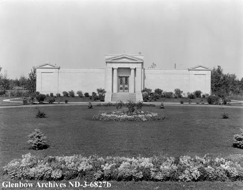 nd-3-6827b - Edmonton Cemetery Mausoleum - Near 107 Ave and 119 Street - 1934