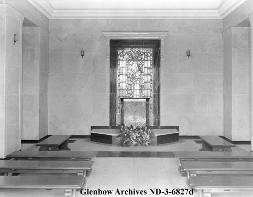 nd-3-6827d - Edmonton Cemetery Mausoleum - Near 107 Ave and 119 Street - 1934