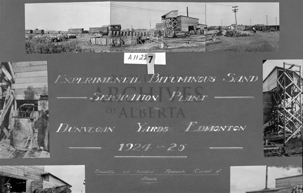 A11227 - Experimental Bituminous Sand Separation Plant, Dunvegan Yards, Edmonton - 1925