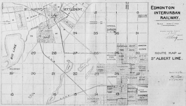 EIR Route Map - The Edmonton Bulletin, October 18, 1912 (Morning Edition), Page 10, Item Ad01002_1