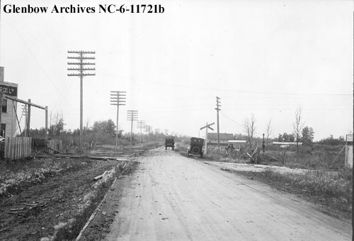 nc-6-11721b - Railway crossing, Edmonton, Alberta - North West Lumber Co Ltd - 1925-07