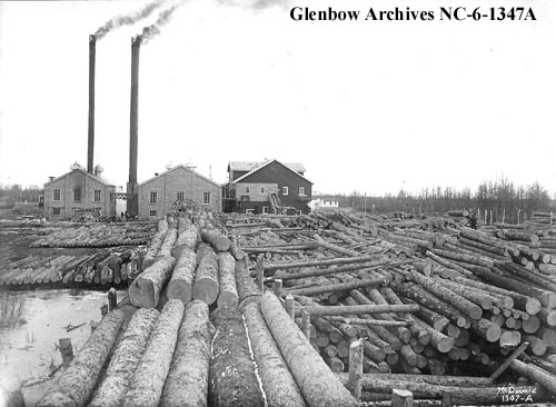 nc-6-1347A - Edmonton, Dunvegan and British Columbia Railway lumber yard, Edmonton, Alberta - 1914